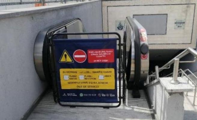 Metroda yürüyen merdiven faciası
