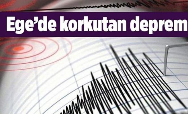 Ege'de korkutan deprem! İzmir ve çevre illerden hissedildi