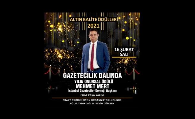 Mehmet Mert'e 'Onursal' ödül