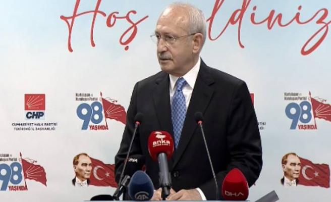 CHP lideri Kemal Kılıçdaroğlu'ndan HDP'ye kapatma davası hakkında ilk yorum