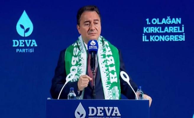 DEVA Partisi Genel Başkanı Ali Babacan: Kırklareli il kongresinde konuştu
