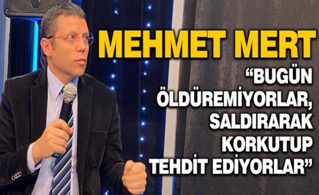 Mehmet Mert: Bugün öldüremedikleri için saldırı ve şiddetle tehdit uyguluyorlar