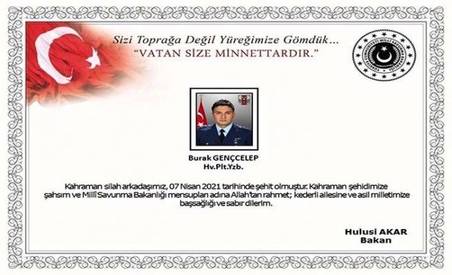 MSB: Konya'da eğitim uçuşu sırasında kaza kırıma uğrayan uçağımızın pilotu şehit oldu