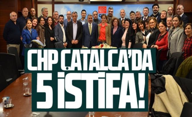 CHP Çatalca'da istifa şoku!