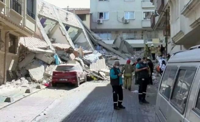 İstanbul'da bina çöktü! Ekipler bölgeye sevk edildi