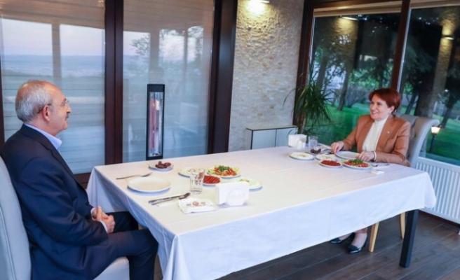 Meral Akşener ile  Kemal Kılıçdaroğlu birlikte iftar yaptı.
