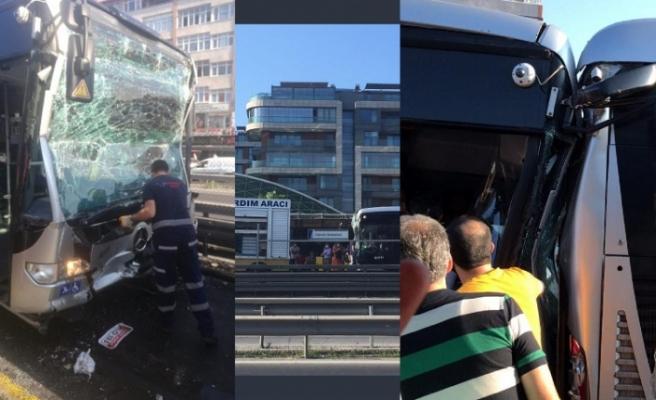 İstanbul'da metrobüs kazası: Çok sayıda yaralı!