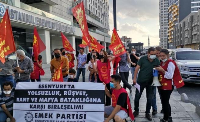 Sedat Peker'in 'Esenyurt' iddiaları sonrası EMEP'ten eylem