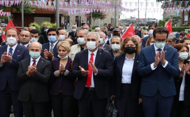 CHP'nin 98. kuruluş yıl dönümü dolayısıyla tören düzenlendi