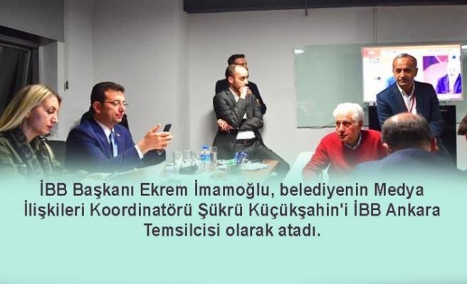 İBB Başkanı Ekrem İmamoğlu, Ankara'ya temsilci atadı!