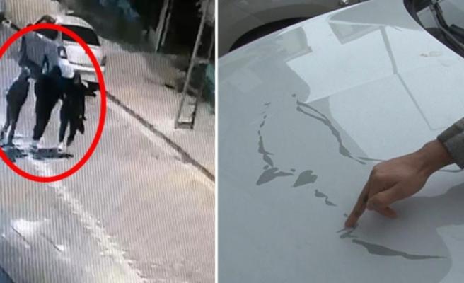 Takıntılı kadın, ayrıldığı erkek arkadaşının aracına 60 bin TL'lik zarar verdi