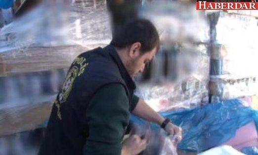 Avcılar'da Hurdalıkta Yüzlerce Şişe Sahte İçki Ele Geçirildi