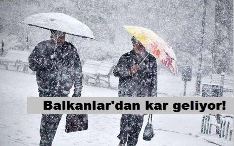 Balkanlar'dan kar geliyor!
