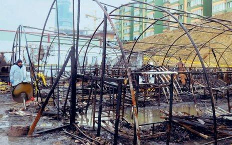 Çadır yangınında soruşturma tamamlandı