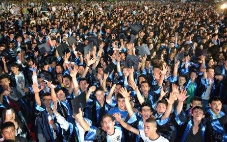 Çatalca'da mezuniyet COŞKUSU