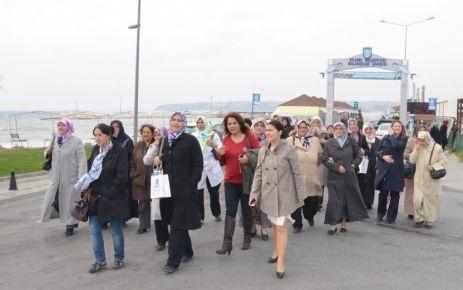 Çavuşlulu kadınlar ilk kez Silivri'ye geldi