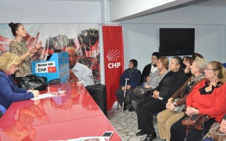 CHP'li kadınlar Menar'ı dinledi