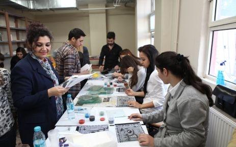 Geleceğin seramik sanatçıları, şahmaran atölyesi'nde