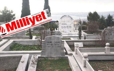 'İcradan' satılık mezarlık' Milliyet'te
