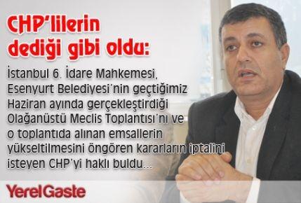 Mahkeme CHP'lileri haklı buldu...