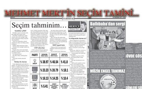 Mehmet Mert'ten seçim tahmini