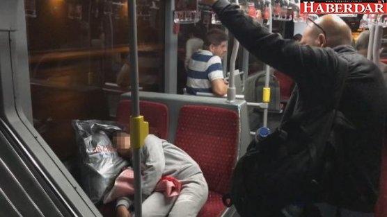 Metrobüste yürek burkan görüntü...