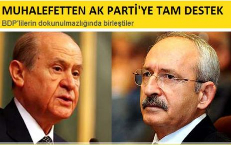 Muhalefetten AK Parti'ye Tam Destek