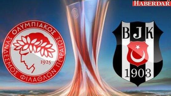 Olympiakos - Beşiktaş maçı saat kaçta hangi kanalda?