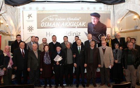Osman Akkuşak'ın yazarlığının 60. Yılı kutlandı