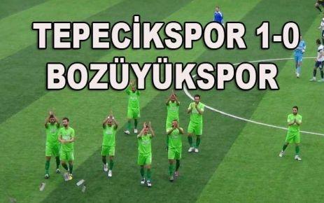 TEPECİKSPOR 1-0 BOZÜYÜKSPOR