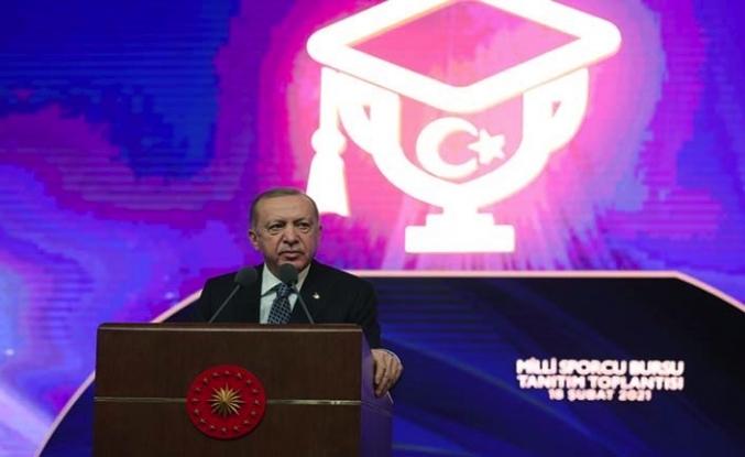 Cumhurbaşkanı Erdoğan: AK Parti'nin yaptığı yatırımlar sayesinde sporda derece yapmış kişilere daha çok sahip çıkılıyor