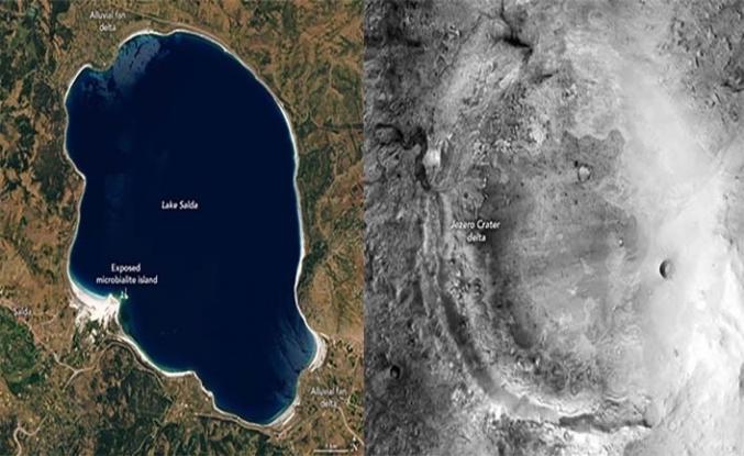 NASA: Salda Gölü sayesinde yarın yüzeyine ineceğimiz krater hakkında bilgi sahibiyiz