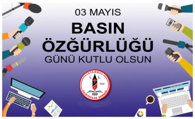 3 Mayıs Dünya Basın Özgürlüğü Günü'nü, kutluyoruz