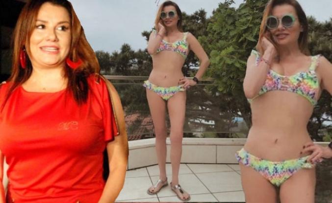 22 kilo veren Deniz Seki'den bikinili paylaşım