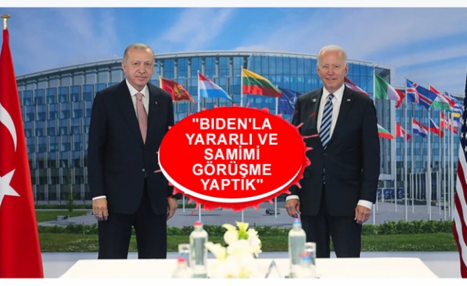 Cumhurbaşkanı Recep Tayyip Erdoğan ile ABD Başkanı Joe Biden Brüksel'de ilk kez yüz yüze görüştü.
