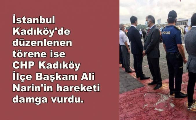 Cumhurbaşkanı Erdoğan'ın mesajı okunduğu sırada CHP'li başkan sırtını döndü