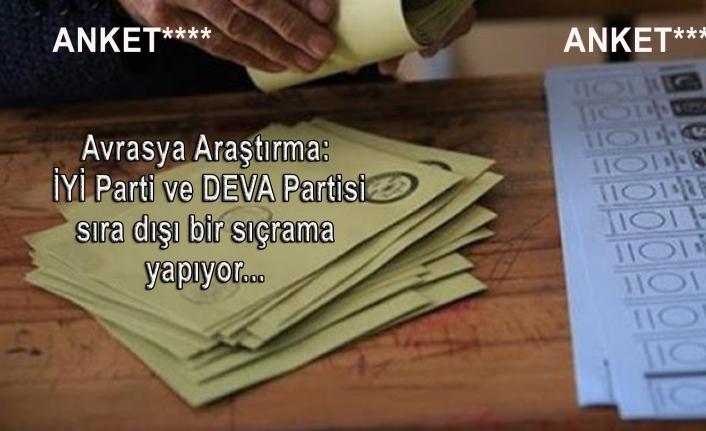 Avrasya Araştırma: İYİ Parti ve DEVA Partisi sıra dışı bir sıçrama yapıyor...