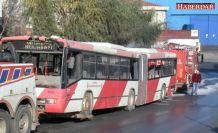 Esenyurt'ta belediye otobüsü alev aldı
