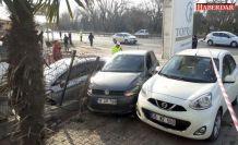 Silivri'de yoldan çıkan otomobil öğrencilere çarptı