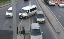 E-5 trafiğinden ölüme meydan okuyan tehlikeli 'kaçış'