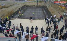Çatalca'nın Yıllardır Özlemle Beklediği Yüzme Havuzunun Temeli Törenle Atıldı