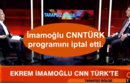 İBB Başkanı İmamoğlu CNNTÜRK programını iptal etti.
