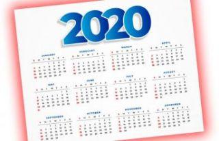 2020 yılında resmi tatiller hangi günlere denk...