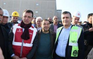 İmamoğlu ve Başkan Bozkurt kreş inşaatını inceledi