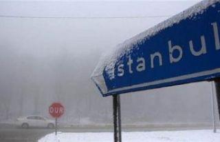 İstanbul'a hafta sonu karla karışık yağmur...