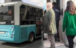 Otobüs bir anda karıştı! 'Seni tek başına...