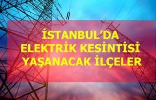 30 Ocak Perşembe İstanbul elektrik kesintisi!
