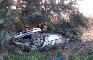 Silivri'de buzlanma nedeniyle araç takla attı:...
