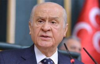 MHP lideri Bahçeli CHP'nin bütün tekliflerine...