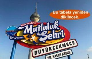 """Mutluluk Şehri Büyükçekmece'ye Hoş Geldiniz""""..."""